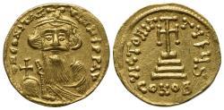 Ancient Coins - Constans II (641-668). GOLD Solidus. Constantinople, 651/2-654.