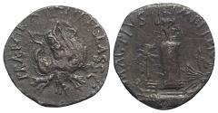 Ancient Coins - Sextus Pompey, Sicilian mint, 40-39 BC. AR Denarius