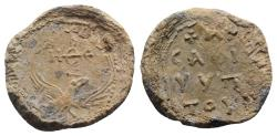 Ancient Coins - Byzantine Pb Seal, c. 7th-12th century