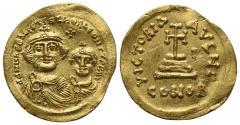Ancient Coins - Heraclius and Heraclius Constantine (610-641). AV Solidus. Constantinople, 613-616.