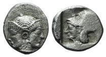 Ancient Coins - Mysia, Lampsakos, c. 500-450 BC. AR Obol