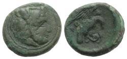 Ancient Coins - Bruttium, Kroton, c. 350-300 BC. Æ 20mm