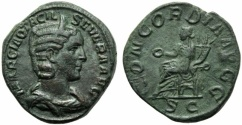 Ancient Coins - Otacilia Severa (Philip I, 244-249), Sestertius, Rome, AD 244-249