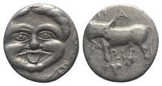 Ancient Coins - Mysia, Parion, 4th century BC. AR Hemidrachm
