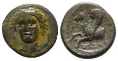 Ancient Coins - Sicily, Syracuse, 344-317 BC. Æ 13mm