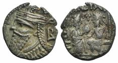 Ancient Coins - Kings of Parthia, Vologases IV (AD 147-191). BI Tetradrachm Ex Simonetta Collection