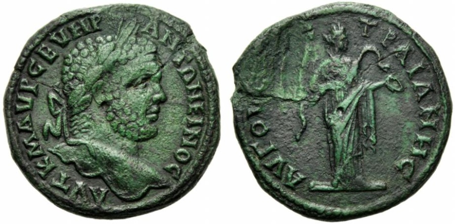 Ancient Coins - Thrace, Caracalla (198-217), Bronze, Augusta Trajana, c. AD 210-217