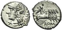 Ancient Coins - M. Baebius Q.f. Tampilus, Denarius, Rome, 137 BC