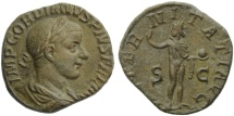 Ancient Coins - Gordian III (238-244), Sestertius, Rome, AD 241-243