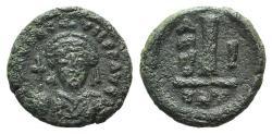 Ancient Coins - Maurice Tiberius (582-602). Æ 10 Nummi