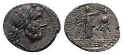 Ancient Coins - ROME REPUBLIC Cn. Lentulus Clodianus, Rome, 88 BC. AR Quinarius R/ Victory  crowning trophy.