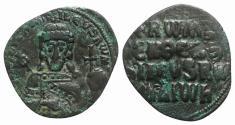 Ancient Coins - Constantine VII and Romanus I (913-959). Æ 40 Nummi