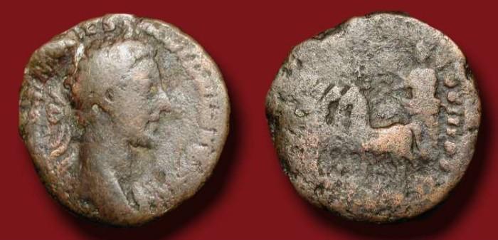 Ancient Coins - x Commodus , 177 - 192  AD .  Æ As . Commodus driving triumphal quadriga.  Rare .