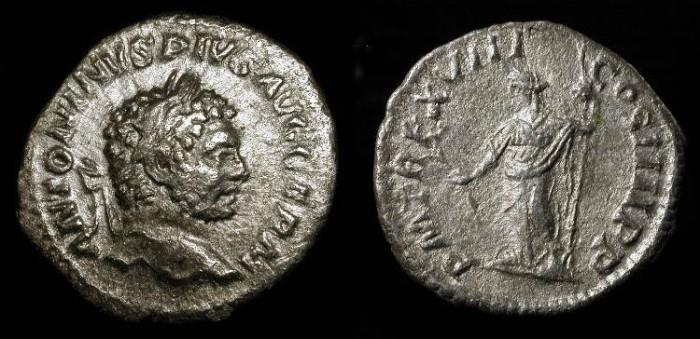 Ancient Coins - Caracalla 198-211 AD, AR Denarius
