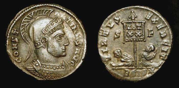 Ancient Coins - Constantine the Great 306-337 AD. AE Follis. RIC 109 (r3) Rare