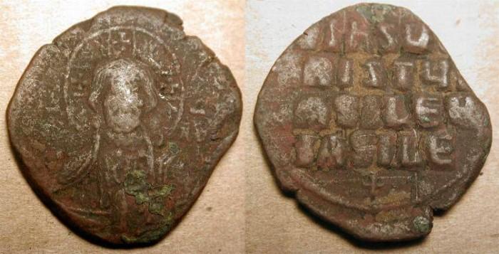 Ancient Coins - z Portrait of Christ . Anonymous AE Follis Class A II .