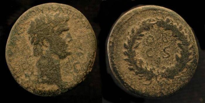 Ancient Coins - Judaea, Agrippa II under Claudius. AE 24. Caesarea Maritima. Very Rare