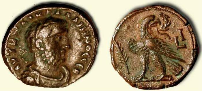 Ancient Coins - Gallienus    253 - 268 AD      Alexandrian Tetradrachm