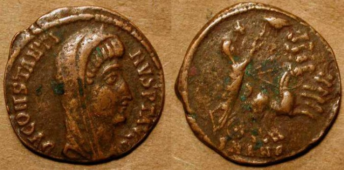 Ancient Coins - z    Posthumous Constantine the Great . Hand of God .