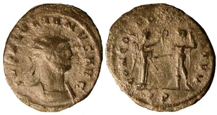 Ancient Coins - z Florianus  .  276  AD  .  Rare Emperor  (only reigned 2 months) . Affordable Budget Coin