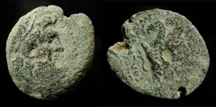 Ancient Coins -  Ptolemaic Kingdom. Ptolemy IX. First reign, 116-106 BC. AE 20. Svoronos 1698
