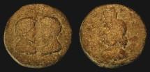 Ancient Coins - City Coins of Judaea. Aelia Capitolina.  Marcus Aurelius & Lucius Verus, 161-180 AD. AE 22