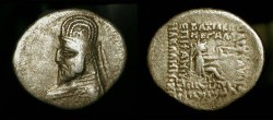 Ancient Coins - Parthian Kingdom.  Orodes I,  90 - 77 BC.  AR Drachm
