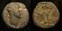 Ancient Coins - Domitian 81-96 AD. AE 20. Caesarea. Judaea Capta.