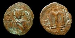 Ancient Coins - Arab Byzantine. HOMS Mint (Emesa). Facing Imperial Bust. Foss 64. Extremely Rare