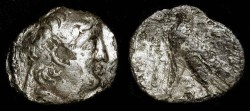 Ancient Coins - Antiochus VII  138-129 BC.  AR Di-Drachme (Fouree)