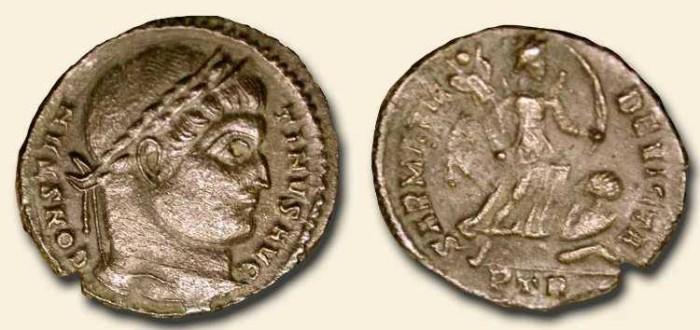 Ancient Coins - Constantine the Great .  307 -337  AD .  Sarmatia Devicta