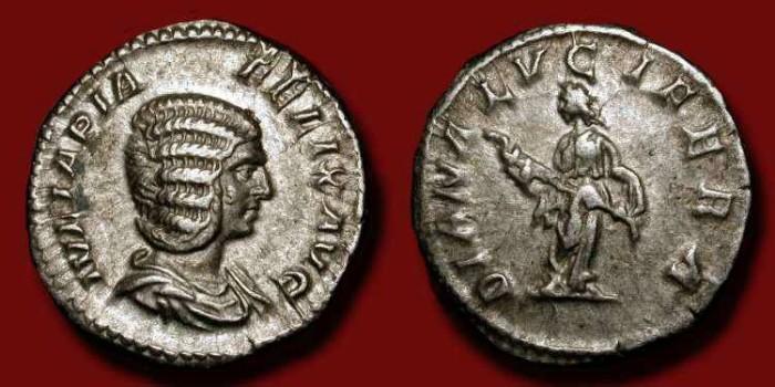 Ancient Coins - Julia Domna (wife of Septimius Severus 193-211 AD) AR Denarius