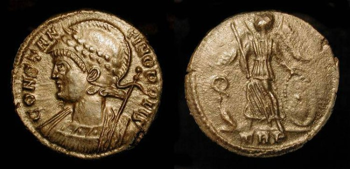 Ancient Coins - xConstantinopolis City Commemorative. AE 18. 333-334 AD. Trier.  RIC 554