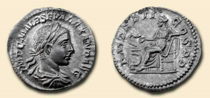 Ancient Coins - Severus Alexander  .  222-235  AD   .   AR  denarius  .