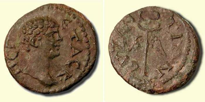 Ancient Coins - Geta  .  198 - 211  AD  .  Winged Caduceus.