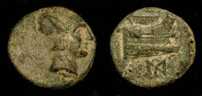 Ancient Coins - Demetrius I Poliorketes 306-283 BC, AE 17 mm