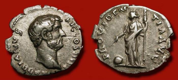 Ancient Coins - Hadrian 117 - 138 AD. AR Denarius