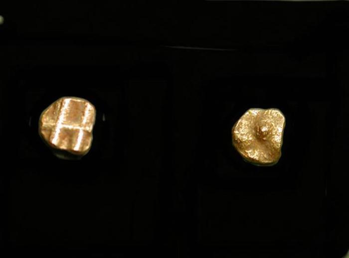 World Coins - Quarter Fanam Gold Coin. India. 15th-16th Century AD, Vijayanagar Empire