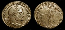 Ancient Coins - Galerius  (305-311 AD)  AE Follis. Heraclea mint. Superb Example