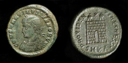 Ancient Coins - Constantine II as Caesar, 317-337 AD. Cyzicus Mint. AE 3. Campgate