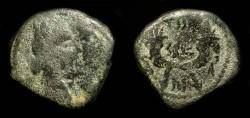 Ancient Coins - Nabataean Kingdom. Aretas IV with Shuquilat,  9 BC - 40 AD. AE16.