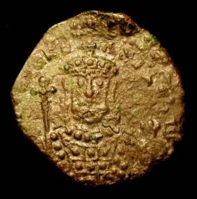 World Coins - Byzantine Empire. Nicephorus II, 963-969 AD.  AE Follis