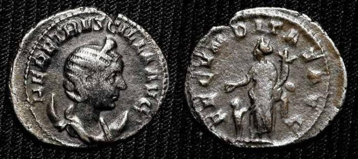 """Ancient Coins - Herennia Etruscilla.  Antoninianus, 250-251 AD. """"Fecunditas""""   SCARCE"""