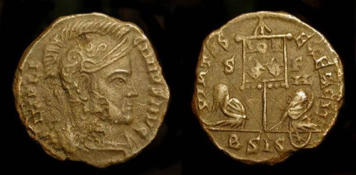 Ancient Coins - Licinius I  308-324 AD. AE3.  RIC VII 129  Siscia Mint. Rare (R1)