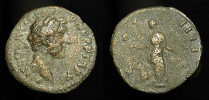 Ancient Coins - Antoninus Pius 138-161 AD. Limes Denarius. COS IIII