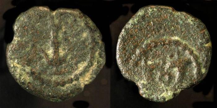 Ancient Coins -  Herod the Great 37 - 4 BC. AE Prutah. H 1188.