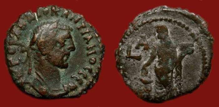 Ancient Coins - Diocletian 284-305 AD.  Potin Tetradrachm . Eusabia.