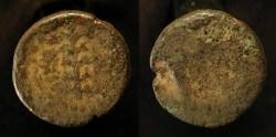 Ancient Coins - Herod Antipas  4 BC - 40 AD. AE 20 mm, half unit. Hendin 1200 . Rare