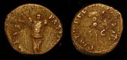 Ancient Coins - Vespasian 69-79 AD. AE Quadrans. Judaea Capta. Trophy / Vexillum