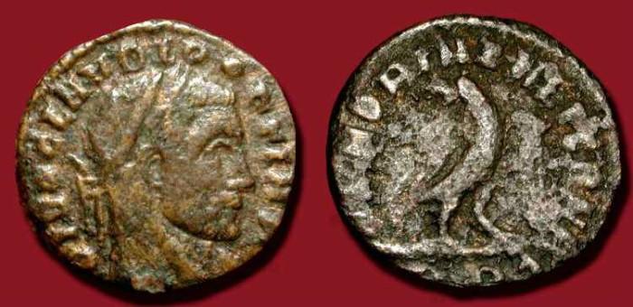 Ancient Coins - Claudius II Gothicus. Posthumus Bronze Quinarius issued by Constantine the Great